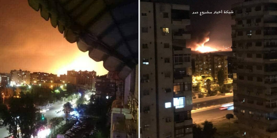 Hàng loạt vụ nổ lớn tại căn cứ không quân Syria - Ảnh 2.
