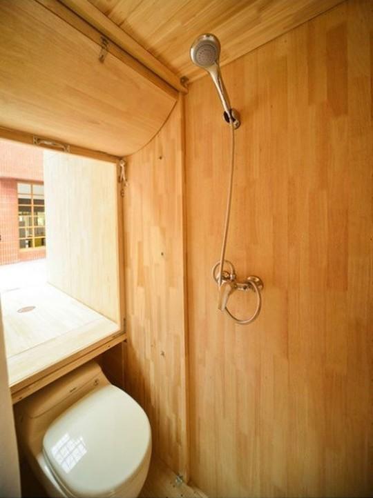 Độc đáo căn nhà gỗ 7m2 có thể chuyển đi khắp nơi - Ảnh 3.