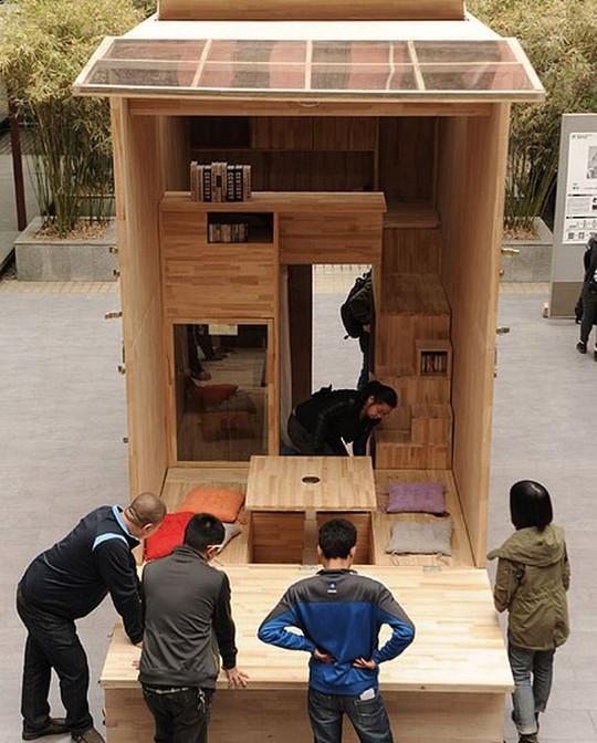 Độc đáo căn nhà gỗ 7m2 có thể chuyển đi khắp nơi - Ảnh 6.