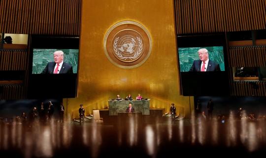 Ông Trump phát biểu tại LHQ, bất ngờ có tiếng cười khúc khích - Ảnh 2.