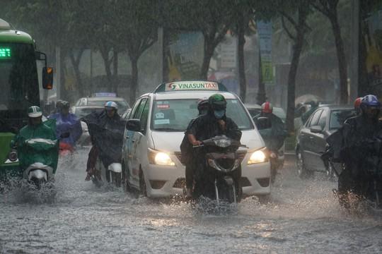 Mưa nhỏ cũng khiến đường vào sân bay ngập lênh láng - Ảnh 1.