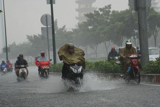 Mưa nhỏ cũng khiến đường vào sân bay ngập lênh láng - Ảnh 4.