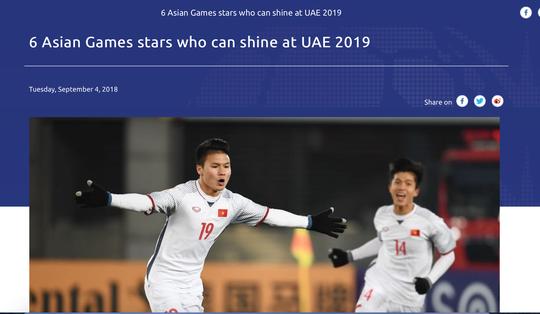 AFC xếp Quang Hải vào 6 tài năng đáng xem nhất Asian Cup 2019 - Ảnh 1.