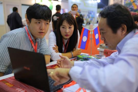 Rồng rắn xếp hàng mua vé 0 đồng tại Hội chợ Du lịch Quốc tế TP HCM - Ảnh 10.