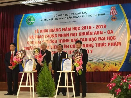Hai chương trình của Trường ĐH Nông Lâm TP HCM đạt chuẩn AUN-QA - Ảnh 1.