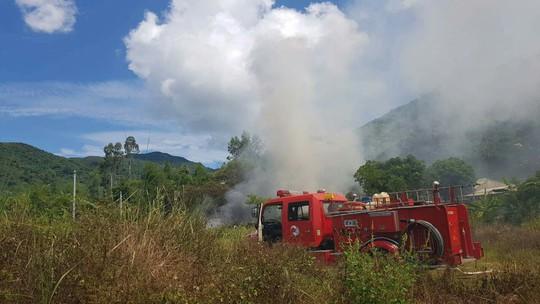 Kịp thời dập tắt đám cháy rộng 1.000 m2 tại bán đảo Sơn Trà - Ảnh 1.