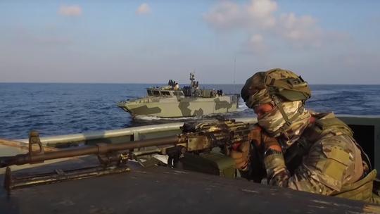 Lính thủy Nga đổ bộ bờ biển Syria trong cuộc tập trận chưa từng thấy - Ảnh 1.