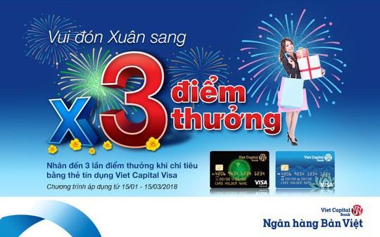 Chi tiêu dịp Tết, được hoàn tiền đến 1,5% tại Viet Capital Bank - Ảnh 1.