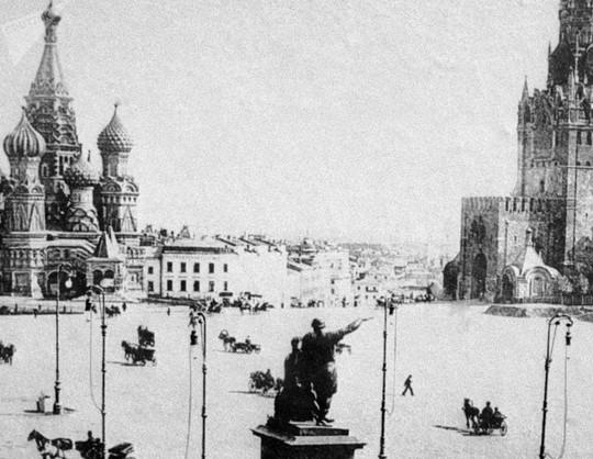 """Chùm ảnh so sánh thủ đô Moscow """"100 năm: ngày ấy - bây giờ"""" - Ảnh 1."""
