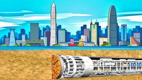 Trung Quốc xây dựng đường hầm cao tốc dài hơn 10km xuyên qua hồ nước - Ảnh 2.
