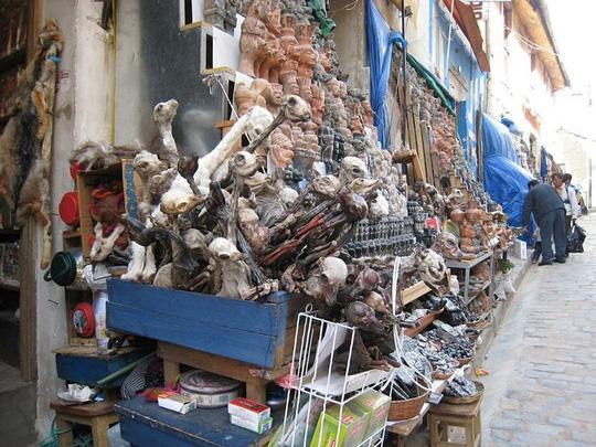 Bí ẩn trong khu chợ bùa ngải ma thuật lớn nhất thế giới - Ảnh 1.