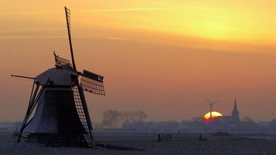 Đẹp nao lòng mùa đông ở Hà Lan - Ảnh 4.