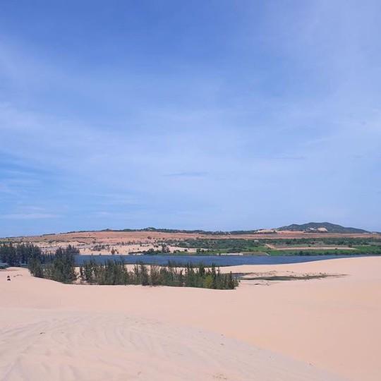 """Check in """"ốc đảo xanh giữa lòng sa mạc"""" đang gây sốt ở Bình Thuận - Ảnh 7."""