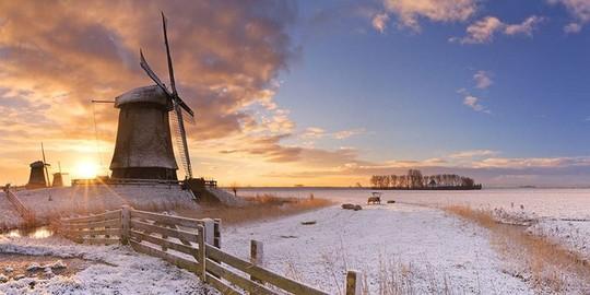 Đẹp nao lòng mùa đông ở Hà Lan - Ảnh 8.