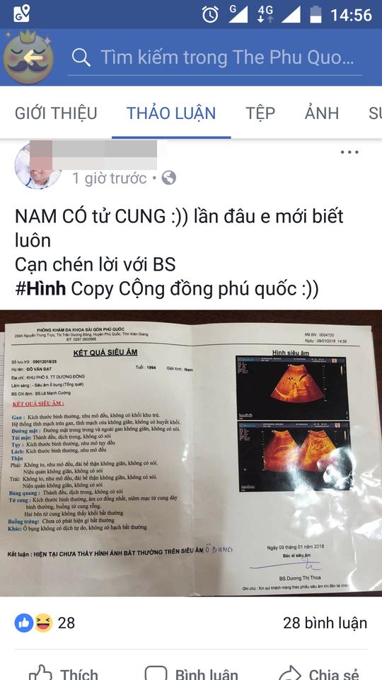 """Bệnh nhân nam """"được"""" chẩn đoán tử cung và buồng trứng bình thường! - Ảnh 2."""