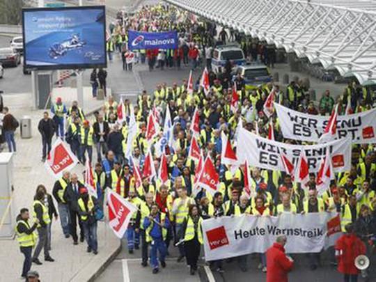 Bay quốc tế bị ảnh hưởng do đình công tại sân bay Frankfurt - Ảnh 1.