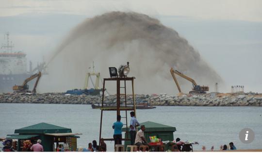 Trung Quốc lấn biển để xây thành phố cảng 1,4 tỉ USD ở Sri Lanka - Ảnh 1.