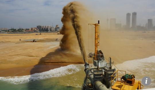 Trung Quốc lấn biển để xây thành phố cảng 1,4 tỉ USD ở Sri Lanka - Ảnh 3.