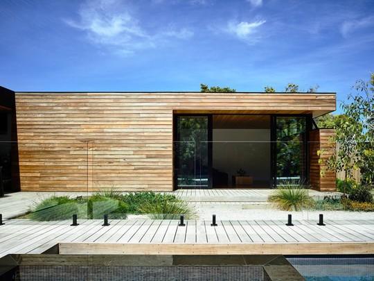 Ngôi nhà tuyệt đẹp kết hợp giữa bê tông và gỗ - Ảnh 4.