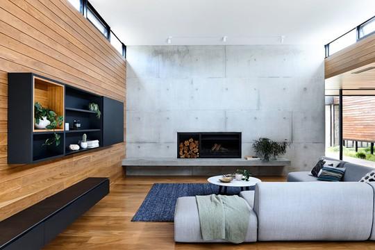 Ngôi nhà tuyệt đẹp kết hợp giữa bê tông và gỗ - Ảnh 7.
