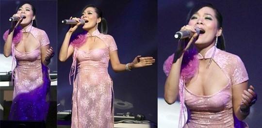 Thảm họa thời trang khi mỹ nhân Việt diện áo dài phản cảm - Ảnh 10.