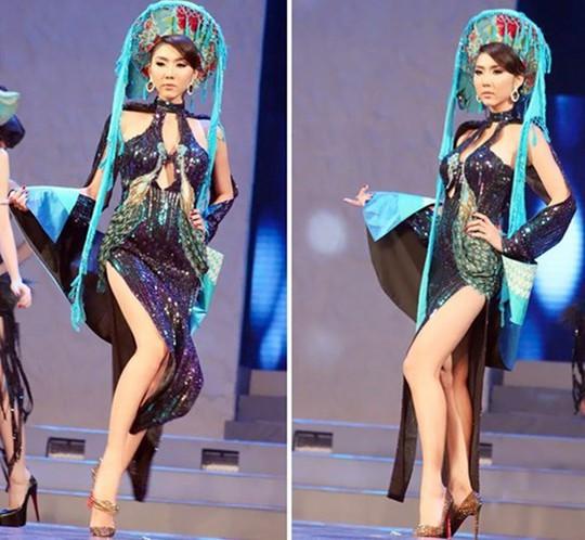 Thảm họa thời trang khi mỹ nhân Việt diện áo dài phản cảm - Ảnh 12.