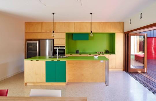 Không gian nhà bếp độc đáo với màu xanh lá cây - Ảnh 2.