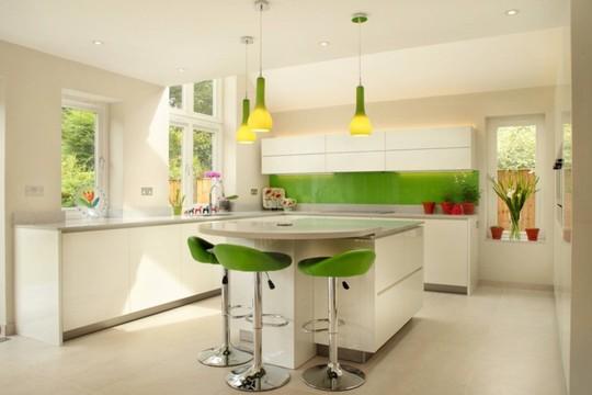 Không gian nhà bếp độc đáo với màu xanh lá cây - Ảnh 11.