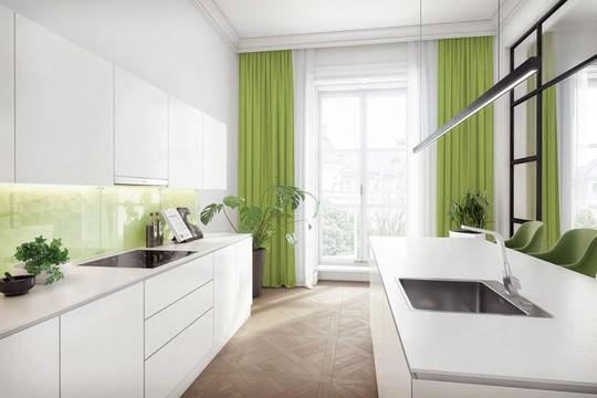 Không gian nhà bếp độc đáo với màu xanh lá cây - Ảnh 12.
