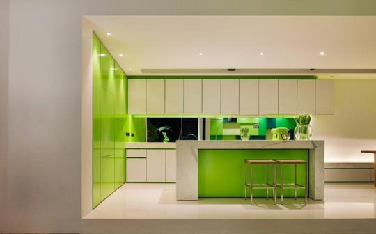 Không gian nhà bếp độc đáo với màu xanh lá cây - Ảnh 3.