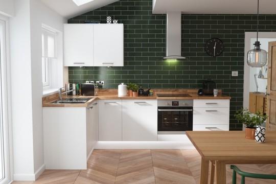 Không gian nhà bếp độc đáo với màu xanh lá cây - Ảnh 7.