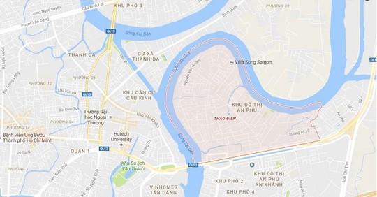 TP HCM điều chỉnh quy hoạch khu dân cư ở Thảo Điền, An Phú - Ảnh 1.