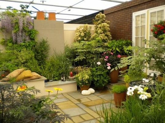 Những thiết kế vườn trên sân thượng đẹp mát mắt - Ảnh 5.