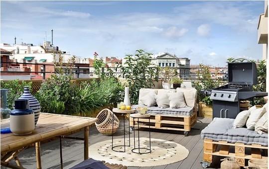 Những thiết kế vườn trên sân thượng đẹp mát mắt - Ảnh 9.