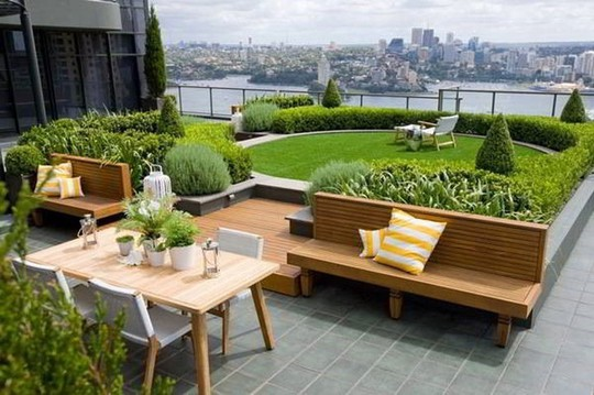 Những thiết kế vườn trên sân thượng đẹp mát mắt - Ảnh 12.