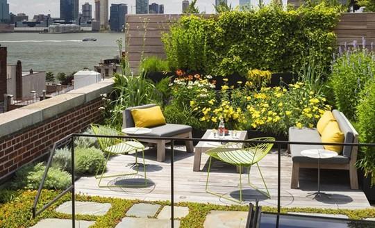 Những thiết kế vườn trên sân thượng đẹp mát mắt - Ảnh 13.