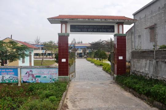 Trường Tiểu học số 1 Hồng Thủy - nơi xảy ra sự việc