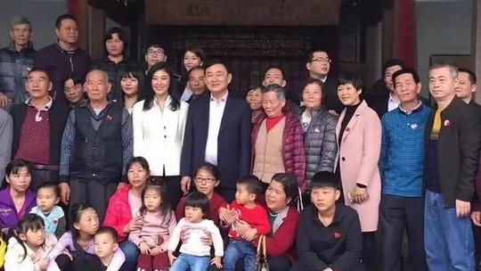 Ông Thaksin và bà Yingluck về thăm tổ tiên ở Trung Quốc - Ảnh 1.