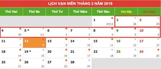 Tết Nguyên đán Kỷ Hợi 2019: Cán bộ, công chức được nghỉ 9 ngày liền - Ảnh 1.
