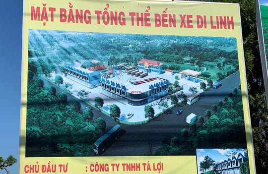 Hàng loạt sai phạm tại khu đất vàng bến xe Di Linh - Ảnh 1.