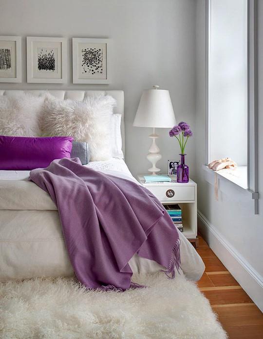 Trái tim lạc nhịp trước căn phòng ngủ mang sắc tím mộng mơ - Ảnh 12.