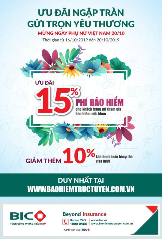 BIC giảm tới 25% phí bảo hiểm sức khỏe nhân ngày Phụ nữ Việt Nam - Ảnh 1.