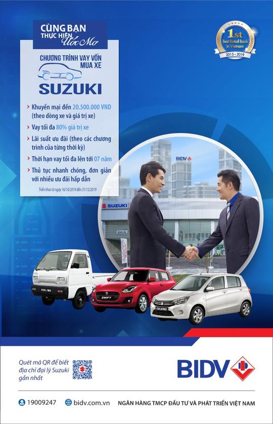 Sở hữu ôtô Suzuki với ưu đãi đặc biệt từ BIDV - Ảnh 1.