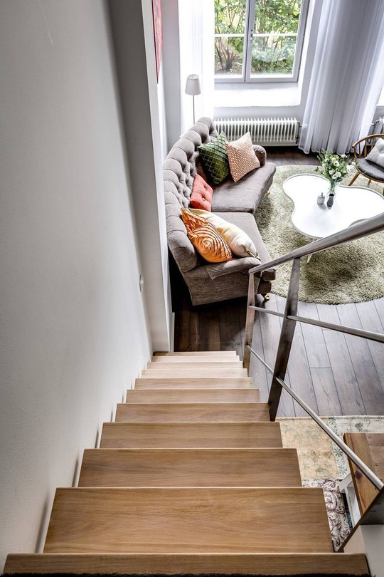 Tận dụng trần cao, thiết kế thêm gác lửng cho căn hộ siêu xinh - Ảnh 12.