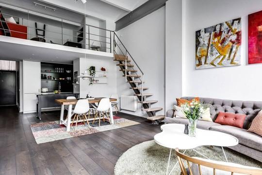 Tận dụng trần cao, thiết kế thêm gác lửng cho căn hộ siêu xinh - Ảnh 3.