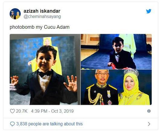 """Hoàng hậu Malaysia bị """"cướp"""" nụ hôn - Ảnh 3."""