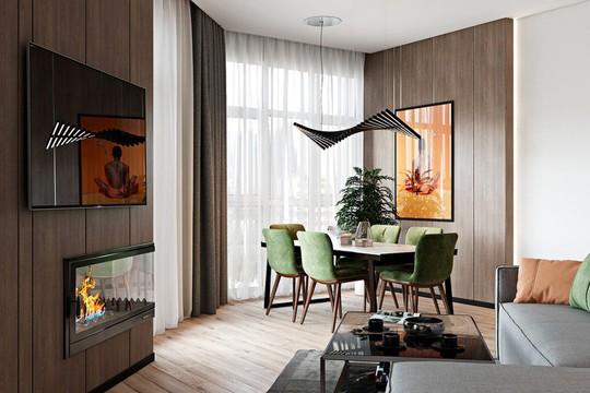 Căn hộ 2 phòng ngủ được thiết kế đẹp mắt - Ảnh 4.