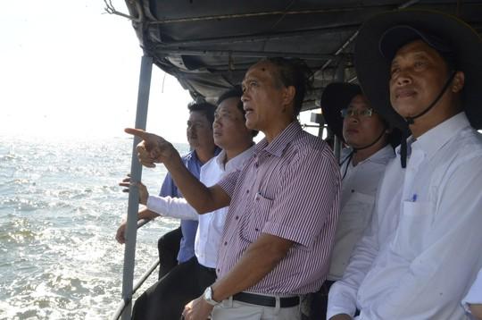 EVN SPC khảo sát tiến độ công trình điện lưới Kiên Bình - Phú Quốc - Ảnh 1.
