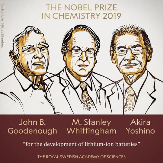 Nobel Hóa học 2019 vinh danh sáng chế pin - Ảnh 2.