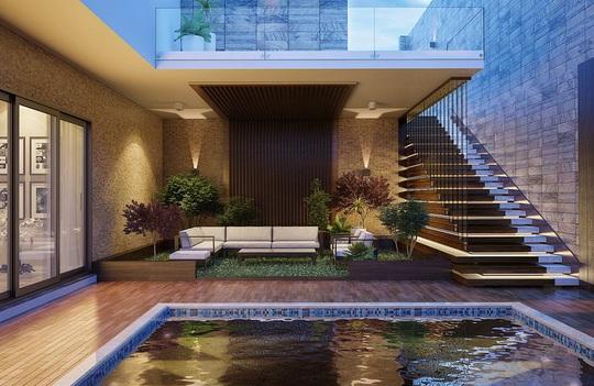 Ngôi nhà phố sở hữu hồ bơi tuyệt đẹp - Ảnh 1.